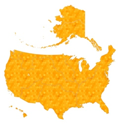 Honeycomb map of usa vector