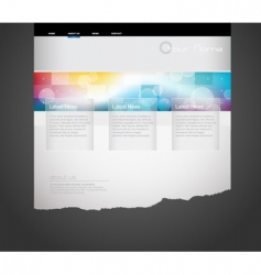 Website template with circles vector