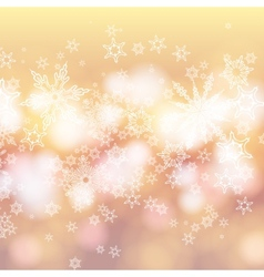 Card with winter sun and snowflakes vector