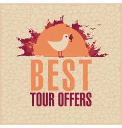 Best tours offers vector