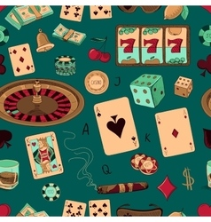 Seamless casino hand drawn pattern vector