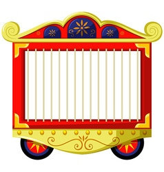 Circus style of animal cage vector