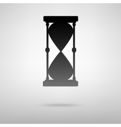 Hourglass black icon vector