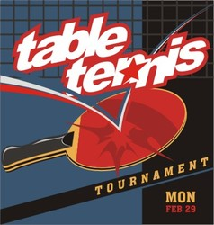 Table tennis logo poster vector