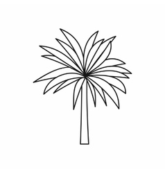 Palm icon outline style vector