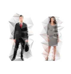 business man and lady vector image vector image
