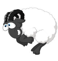 Cartoon happy sheep vector image vector image