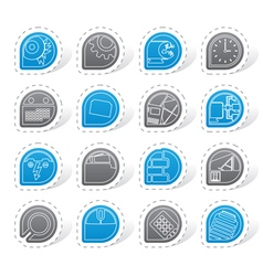 Computer mobile phone and internet icons vector