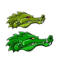Crocodile or alligator mascot vector