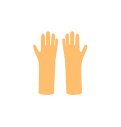 flat working rubber gloves icon vector image