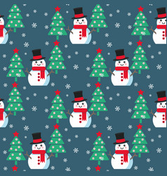 funny cartoon snowman vector image