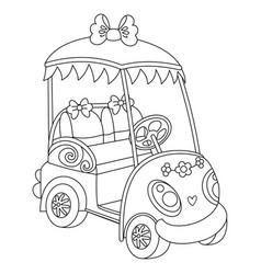 golf buggy golf car vector image