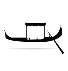 Gondola silhouette vector