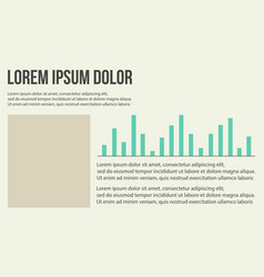 Graphic design business infographic background vector