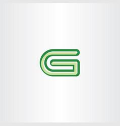 green g letter symbol vector image vector image