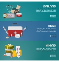 Health facilities banner set vector