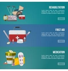 Health Facilities Banner Set vector image