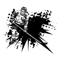 hockey player1 vector image vector image