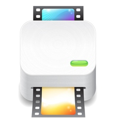 Icon for film scanner vector image vector image
