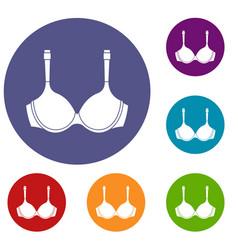 Lingerie icons set vector