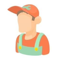 Mechanic icon cartoon style vector