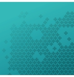 medical cross pattern icon vector image
