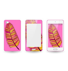 Mobile mobile phone cover back and screen vector