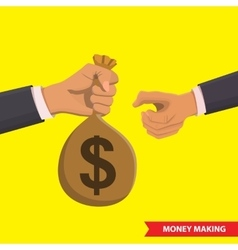 Money making vector image vector image