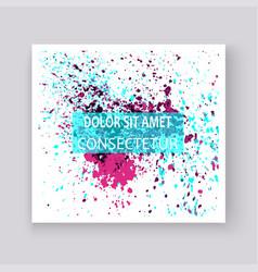 Neon colorful explosion paint splatter artistic vector