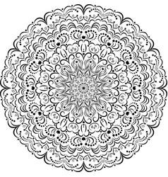 Outline pattern circular vintage ornament vector