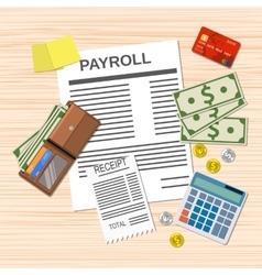 Payroll invoice sheet vector