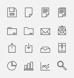 Set of business icons outline vector