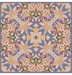 Squared ornamental floral pattern vector image vector image