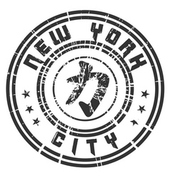 T shirt New York Character Power Force grunge vector image