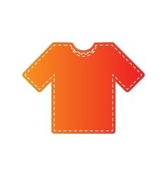 T-shirt sign Orange applique vector image vector image