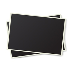 Two old photo frames isolated vector