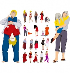 woman child girl vector image vector image