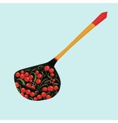 Wooden spoon khokhloma vector