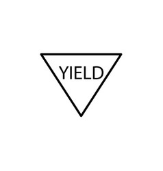 Yield road sign icon vector