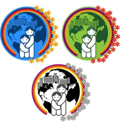 Simbol protection of mothers and children vector image