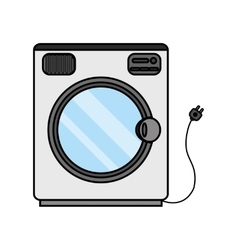 Isolated washer machine design vector