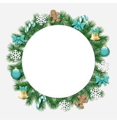 Christmas decorative frame vector