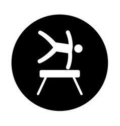 Silhouette of athlete practicing gymnastics vector