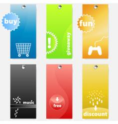Tags design vector