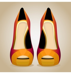 A high-heeled shoes isolated vector