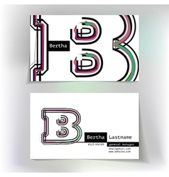 Business card design with letter b vector