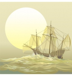Caravel santamaria vector
