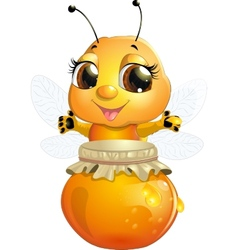 Bee on a white background vector