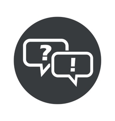 Monochrome round question answer icon vector