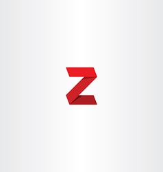 3d red logo letter z sign icon vector